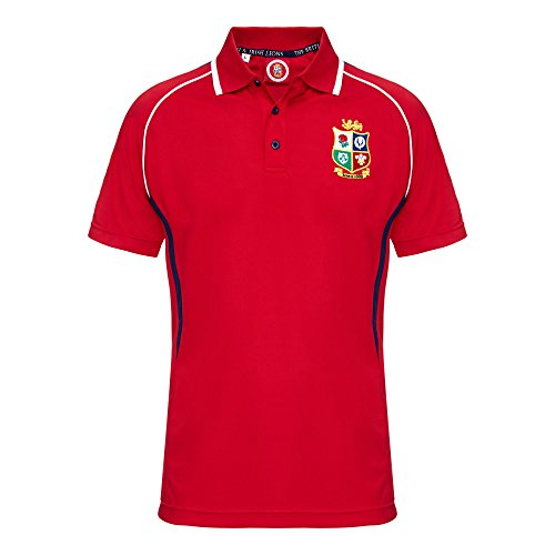 Lions Rugby Fan Winger Polohemd - Rot, XX-Large