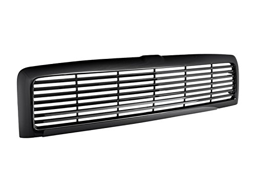 R L Racing Black Finished Horizontal Billet Style Front Hood Bumper Grill Grille Cover 1994 2002 For Dodge Ram 1500 2500 3500