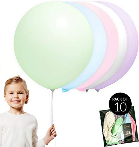 24 Inch Large Jumbo Extra Sized Pastel Unicorn Theme Party Decoration Balloons 10pcs, Girl Birthday Party, Baby Shower, Garland by TOKYO SATURDAY (Unicorn 24)