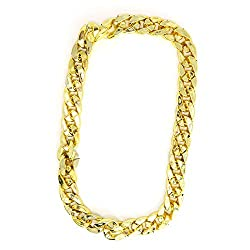 90s Hip-Hop Fake Gold Costume Necklace