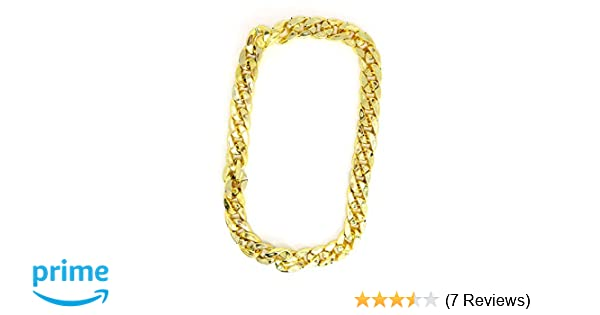 Amazon.com  Skeleteen Rapper Gold Chain Accessory - 90s Hip Hop Fake Gold  Costume Necklace - 1 Piece  Toys   Games bc05f4540ec