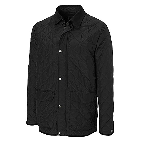 Cutter & Buck Men's Big-Tall CB Weathertec Granite Falls Car Coat, Black, X-Large/Tall - Tall Car Coat
