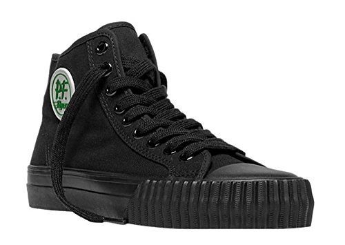 PF Flyers Men's Center Hi Fashion Sneaker, Black Canvas, 9 D US (Center Sneaker Lo)