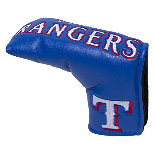 Team Golf MLB Texas Rangers Golf Club Vintage Blade Putter Headcover, Form Fitting Design, Fits Scotty Cameron, Taylormade, Odyssey, Titleist, Ping, Callaway ()