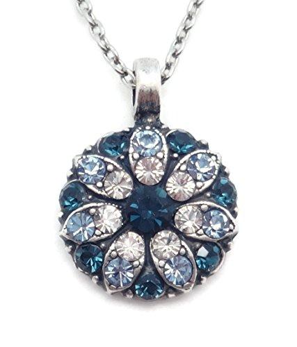 Mariana Swarovski Crystal Silvertone Guardian Angel Necklace in Blue & Clear 21120 ()