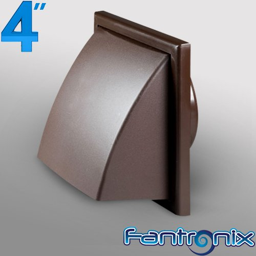 Delightful 4 Inch Dia 100mm Cowled Wall Grille Brown   Plastic Round Ducting For  Extractor Fan, Bathroom, Kitchen,Toilet, Domestic Ventilation Hydroponics  Outside Wall ...