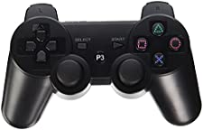 Aniann Wireless Bluetooth Controllers for Sony PlayStation 3 PS3 Double Shock - Black