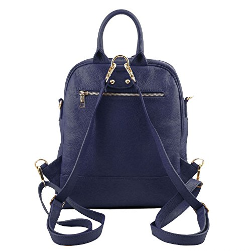 Tl Dark Backpack Leather 81413764 Leather For Soft Women Bag Tuscany Blue YxSqzXqE