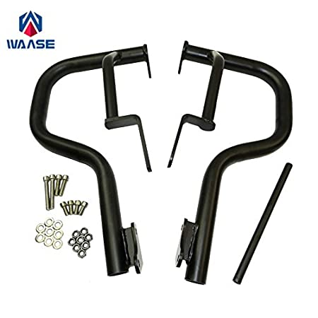 waase Motorcycle Left & Right Engine Bumper Guard Crash Bars Protector Steel For KAWASAKI VN650 Vulcan S 650 EN650 2015 2016 2017 (Black) Does not apply