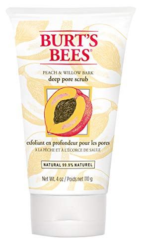 (Burt's Bees Peach & Willowbark Deep Pore Scrub - 4 oz)