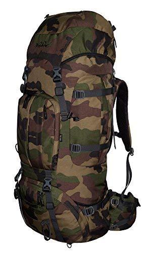 Trekking Rucksack 100L + 20L TASCHEV MOUNT 120 Liter - Rucksack mit wasserdichter Abdeckung (camouflage): Amazon.es: Deportes y aire libre