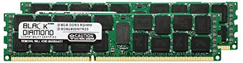 16GB 2X8GB Memory RAM for IBM System xSeries System x3550 M4 Black Diamond Memory Module 240pin PC3-6400 800MHz DDR3 ECC Registered RDIMM ()