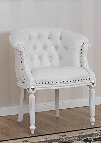 Poltrona Isabelle stile Barocco Moderno bianco laccato particolari ...