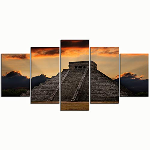 Modern Wall Art anicent Mayan Pyramid chichenitza Mexico