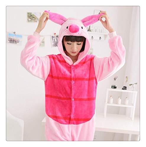 Animal Stitch Star Unicorn Pikachu Onesie Adult Unisex Cosplay Costume Pajamas Sleepwear for Men Women Xmas H Piglet Pig XL