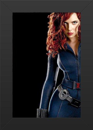Agent Romanoff Hot (Iron Man II Black Widow Movie Art Print - Movie Memorabilia - 11x17 Poster FRAMED, Vibrant Color, Features Natasha)