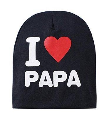 b1e78cf40b5 H pour enfant bébé Casquette Mode Infant Coton I Love Mama Papa Imprimé