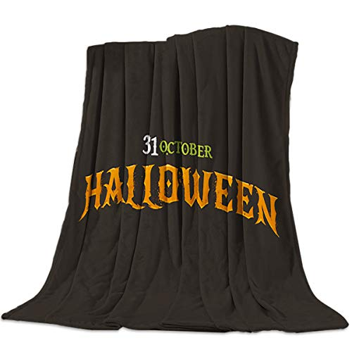 wanxinfu Decorative Throw Blanket for Living Roome/Office/Bedroom Luxury Warm Soft Cozy Flannel Microfiber Lightweight Blanket for All Season Happy Halloween 31st October 59