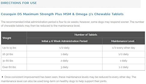Nutramax Cosequin DS Plus with MSM Chewable Tablets