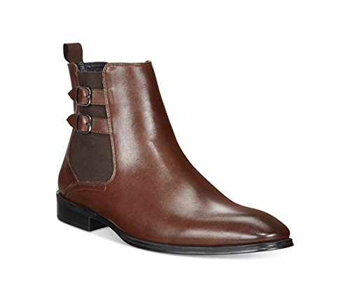 Alfani Men's Rory Double Buckle Chelsea Boots Brown