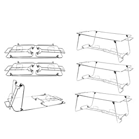 6 Pack Buffet Wire Rack Folding Chafing Stand Chro...