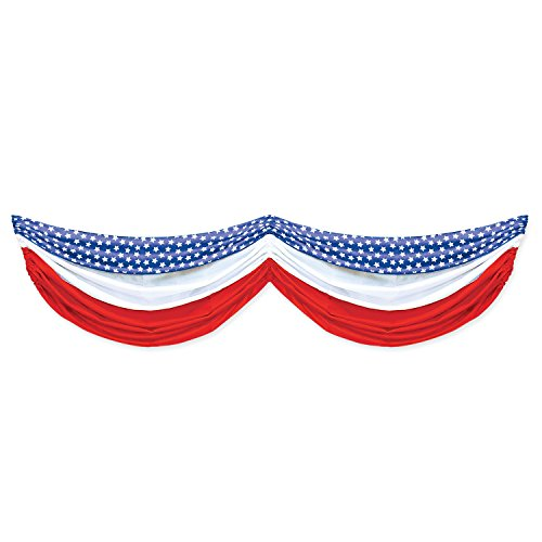 beistle-stars-and-stripes-fabric-bunting-5-feet-10-inch-red-white-blue
