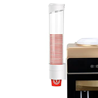 Water Cup Dispenser Mounted with Water Machine, Plastic Anti-Dust Dispenser Holder Organizer for