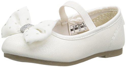 carter's Twinkle Girl's Ballet Flat, Ivory, 9 M US Toddler
