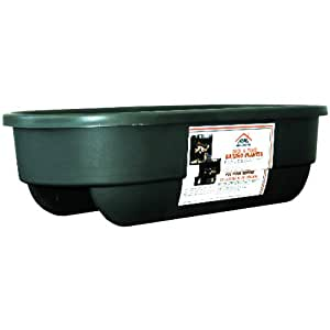 Apollo Plastics L2X6-GREEN 2 by 6 Mount Deck and Fence Railing Planter, 12-Inch by 30-Inch Rectangular, Green (Discontinued by Manufacturer)