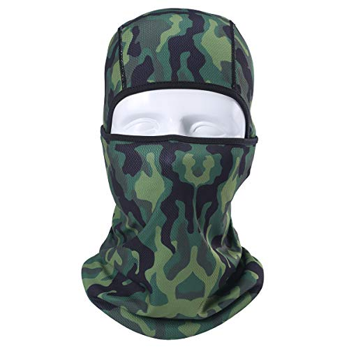 AXBXCX Camouflage Breathable Seamless Balaclava Helmet Liner Face Mask UV Protection Dust for Running Snowboarding Ski Fishing Hunting Off-Roading Motorcycle ATV 05