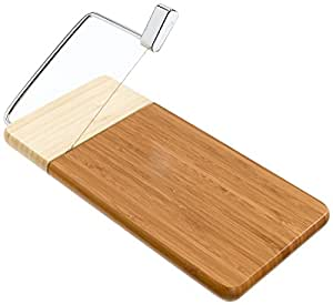"12"" x 6"", Non-Slip Feet, Two-Tones Bamboo Cheese Slicer"