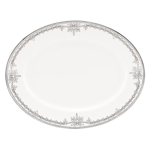 Lenox Marchesa Couture Oval Platter, Empire Pearl
