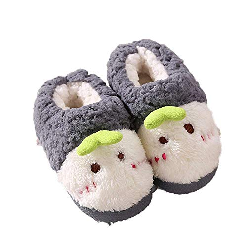 Slippers Sprout Boys Toddler 4 Luobote Grey Girls Cartoon Baby Warm Shoes Winter Indoor WgnOwwqxXF