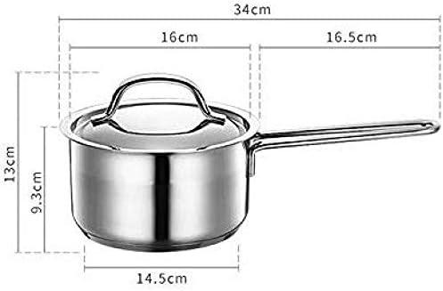 GAO Pot à Soupe en Acier Inoxydable Petit Pot à Lait Poignée Simple Nouilles De Cuisson Antiadhésives Pot à Lait Chaud pour Bébé