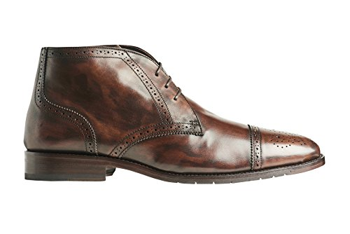 Anthony Veers Mens Texas II Premium Leather Chukka Boots In Bologna Construction Brown 6xvRUi