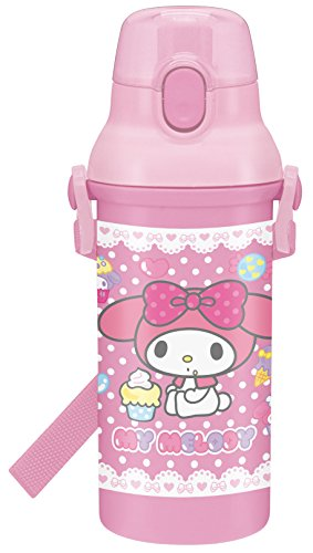 [Direct Drinking Plastic One-touch Bottle 480ml My Melody Corocoro Sweets] (Melody Costume)