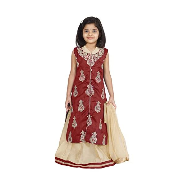 Ashwini Girls' Netted Lehenga Choli