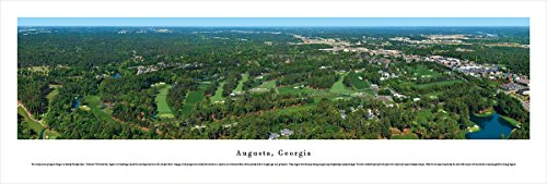 National 12th Augusta Hole - Blakeway Worldwide Panoramas Augusta, Georgia - Blakeway Panoramas Unframed Skyline Posters,