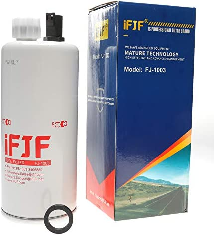 iFJF FS1003 Fuel/Water Separator Filter for 3406889 Diesel Parts Engine Maintenance Spin-On 4070801 P564872 33604 PS8687 LFF1003