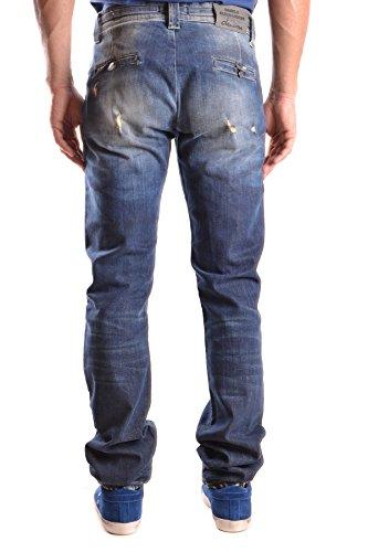 Daniele Alessandrini Herren MCBI086430O Blau Baumwolle Jeans