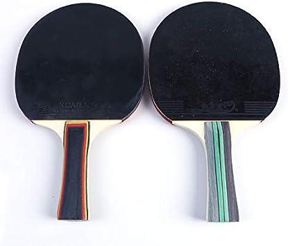 Chunhe - Raqueta de tenis de mesa con acabado de pala de tenis de mesa (horizontal, de tiro recto, doble cara, antiadherente)