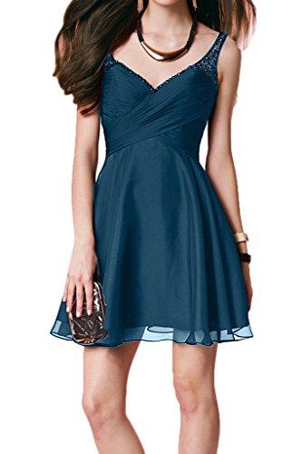 Damen Ausschnitt Perlen Abendkleid Ivydressing Promkleid Kurz Blau Rueckenfrei Partykleid Zaertlich Festkleid V qdR1xwHSC