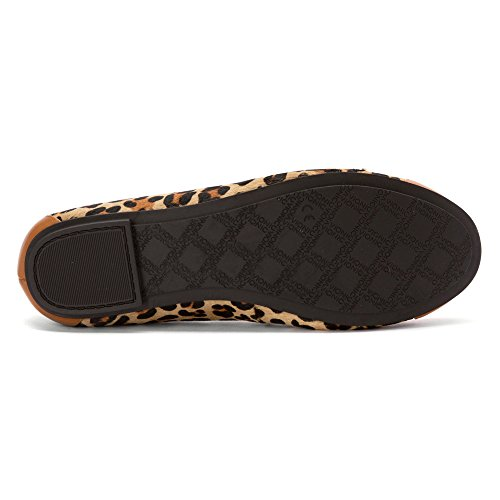 Vionic Womens 359 Minna Leather Shoes marrón oscuro/bronceado leopardo