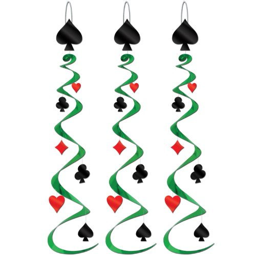 Casino Themed Costume - Card Suit Whirls   (3/Pkg)