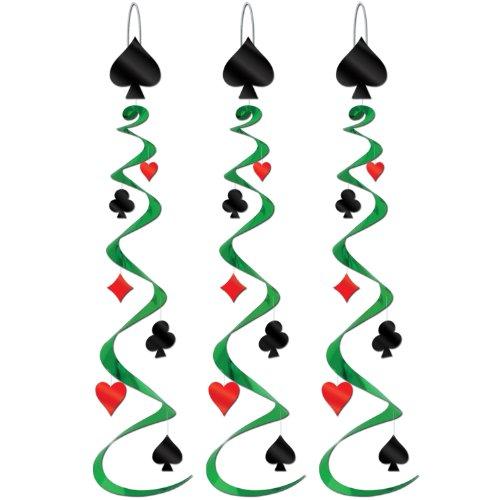 Card Suit Whirls   (3/Pkg) -