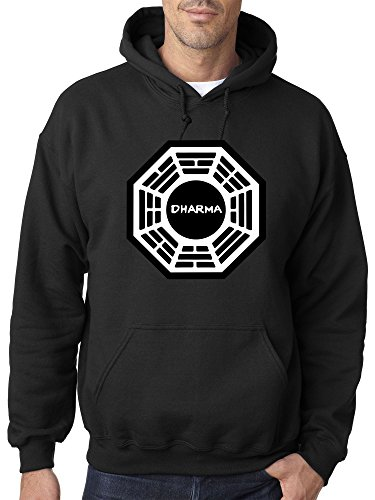 New Way 904 - Adult Hoodie Dharma Initiative Research Project Lost Unisex Pullover Sweatshirt 2XL Black