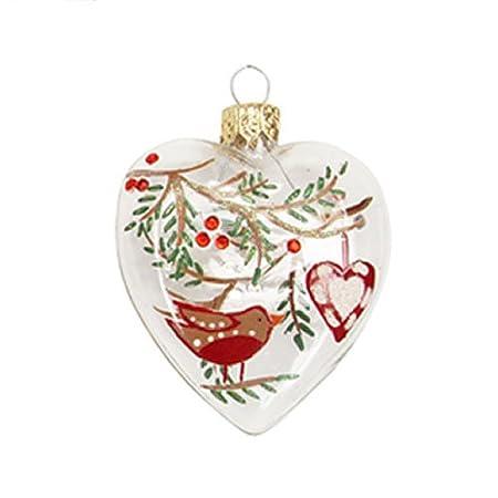 Resin Traditional Christmas Robin Decoration Vintage Tree Gisela Graham Bird