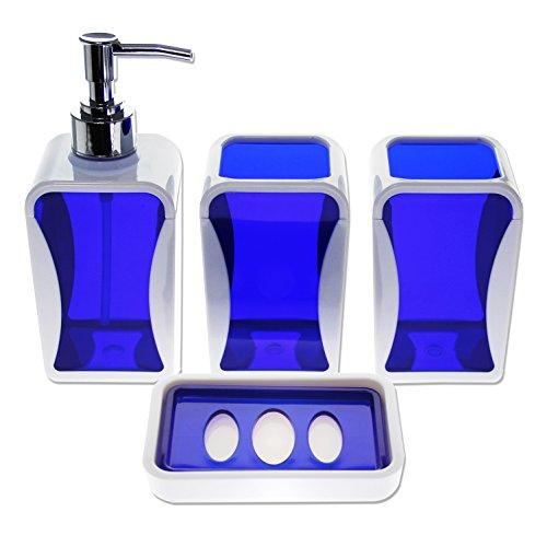 Justnile contemporary 4 piece bathroom accessory set for Bathroom accessories qatar