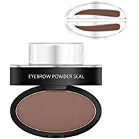 Hot Eyebrow Powder! Mjun Brow Stamp Powder Waterproof Natural Perfect Enhancer Straight United Eyebrow Eyebrows Enhancer (dark brown)