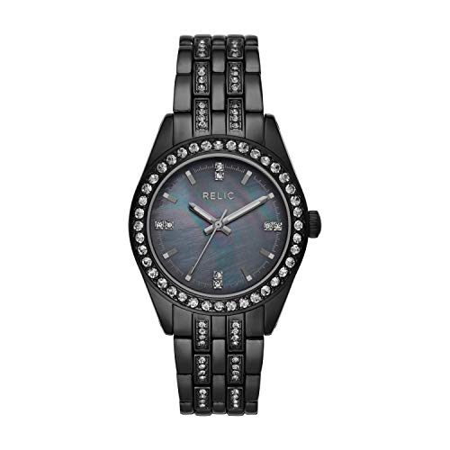 Relic by Fossil Women's Iva Quartz Watch with Alloy Strap, Black, 16 (Model: ZR34538)